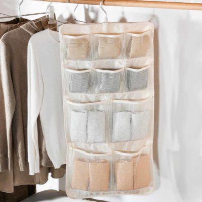 Pockets 2-Sided Wardrobe Hanging Organizer Closet Hangers Tie Belt Undergarment Towel Socks Hanger Style Degree Sg Singapore