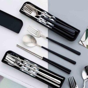 The Modern Portable Cutlery Utensils Box Set Fork Spoon chopsticks Picnic Style Degree Sg Singapore