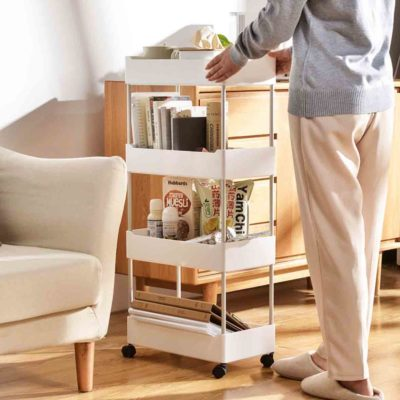 Luxe Storage Trolley Kitchen Bathroom Rack Wheels Style Degree Style Degree Sg Singapore