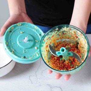 Magic Hand Pull Chopper & Blender Crank Chop Food Processor Mincer Style Degree Sg Singapore
