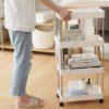 Luxe Storage Trolley Kitchen Bathroom Rack Roller Wheels Style Degree Sg Singpore