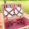 Retro Rattan Picnic Basket Set