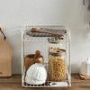 Rustic 2-Tier Desk & Pantry Tray Organizer Kitchen Bathroom Rack Organiser Style Degree Sg Singapore