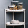 Everyday Corner Standing Rack (With Basket) Bathroom Toilet Kitchen Organizer Style Degree Sg Singapore