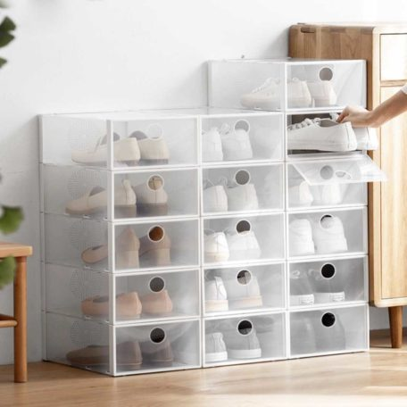 Easy Stackable Shoe Box Organizer Shoes Footwear Organizer Rack Stacking Boxes Style Degree Sg Singapore