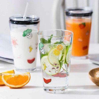 Freshly Anti-Leak Glass Tumbler Mug Cup Straw Coffee Style Degree Sg Singapore