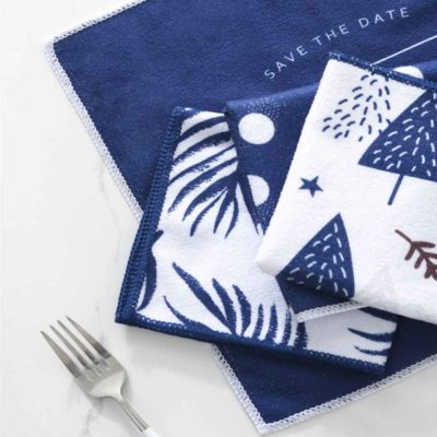 Wintery Microfiber Cleaning Cloth (4pc set) Kitchen Dining Table Cloth Style Degree Sg Singapore