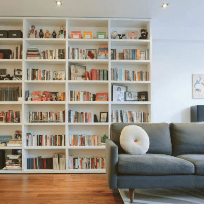 Feature book wall, Living Room Design Ideas Small Singapore Homes, Living Room Decor Ideas Singapore Homes, HDB living room ideas, Style Degree, Singapore, SG, StyleMag
