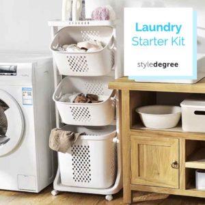 Laundry Starter Kit Laundry Basket Mesh Bag Hangers bundle Style Degree Sg Singapore