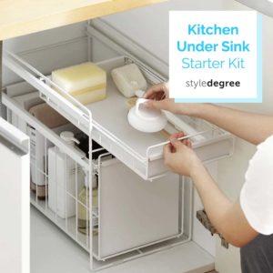 Kitchen Under Sink Starter Kit Wash Basin Cabinet Organizer Style Degree Sg Singapore