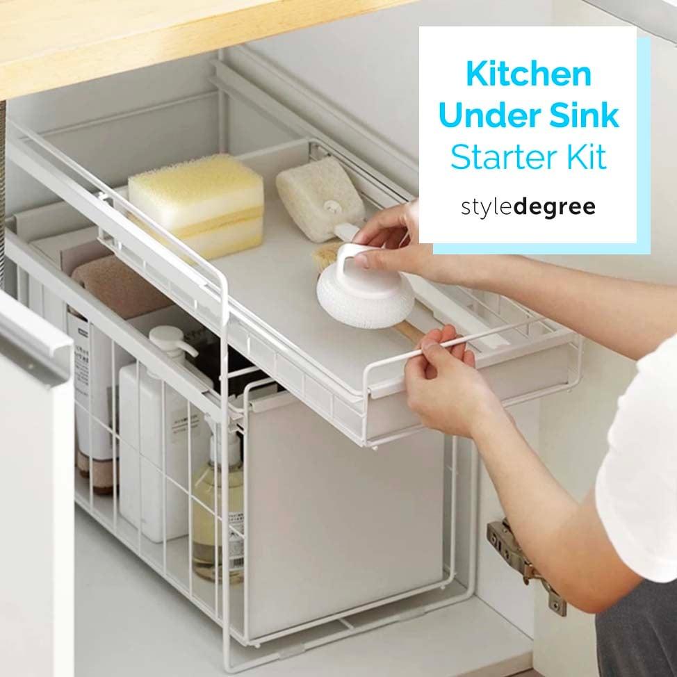 Kitchen Under Sink Organization Starter