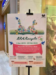 Wacoal bra recycling Singapore, Clothes donation, new year donations, new year 2020, Style Degree, Singapore, SG, StyleMag