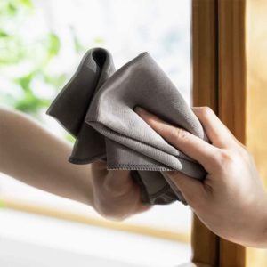 Anti-Scratch Mirror & Glass Cleaning Cloth (2pc Set) Window Stainless Steel Bathroom Kitchen Cleaning Accessories Style Degree Sg Singapore
