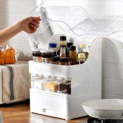 Capsule Dustproof Condiments Organizer Storage Container Seasoning Salt Soya Sauce Bottles Style Degree Sg Singapore
