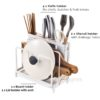Spacious Knife & Board Pot Lid Multi holder Kitchen Basin Drainage Style Degree Sg Singapore