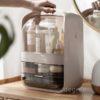 Capsule Dual Opening Makeup Storage Organizer Cosmetic Desk Vanity Table Style Degree Sg Singapore