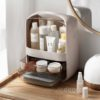 Capsule Dual Opening Makeup Storage Organizer Cosmetic Desk Vanity Table Style Degree Sg Singapore