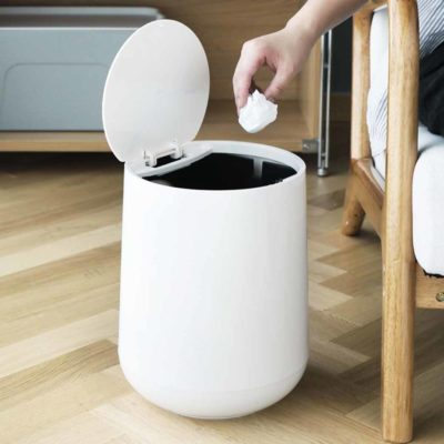 Futura Round Dustbin Trash Bin With Divider Kitchen Bathroom Living Room Style Degree Sg Singapore