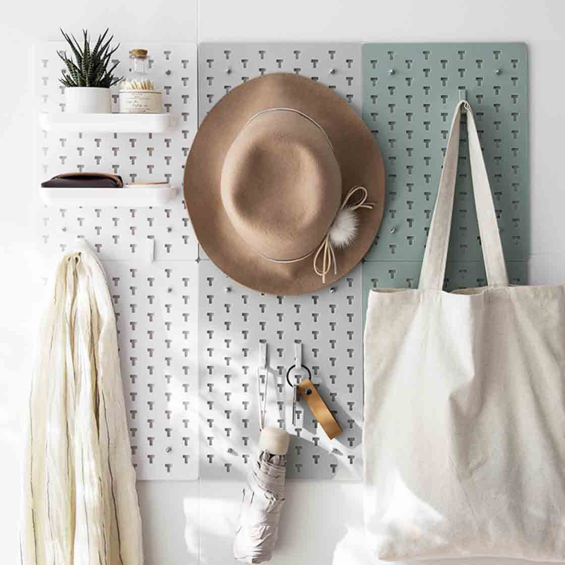 Pastel Pegboard Wall Organizer With Tray Hooks Style Degree