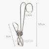 Stainless Steel Hanging Clips (4pc Set) Kitchen Wall Holder Bar Fridge Bathroom Style Degree Sg Singapore