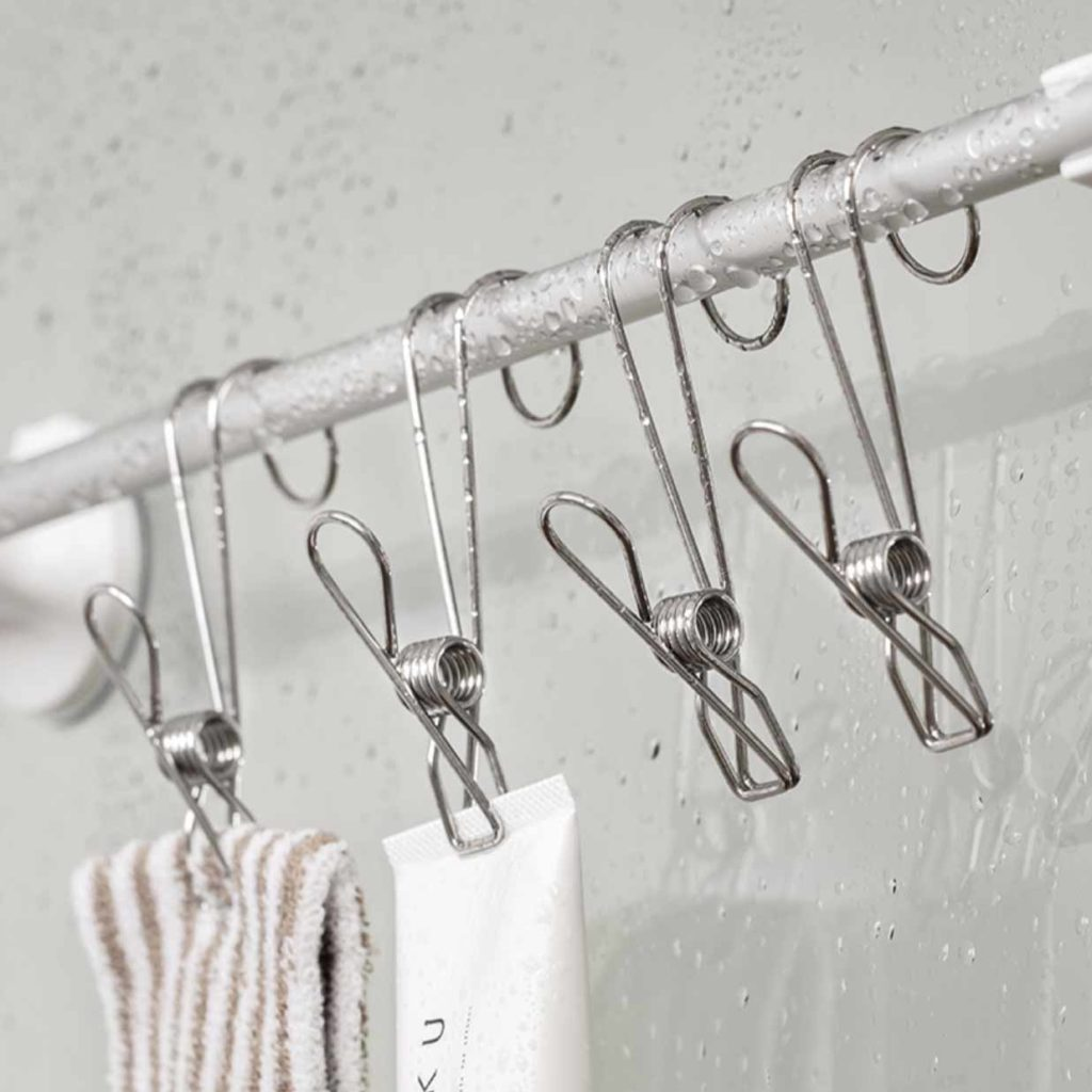 Stainless Steel Hanging Clips (4pc Set) Kitchen Wall Holder Bar Fridge Bathroom Style Degree Sg Singapore