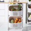 Multi-tier Kitchen Basket (With Wheels) Storage Trolley Pantry Kitchen Style Degree Sg Singapore