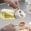 One-handed Oil Glass Bottle Dispenser Anti-Leak Kitchen Condiment Style Degree Sg Singapore