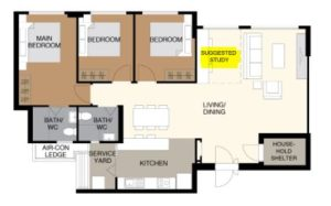 Suggested Study Area, Study Room Ideas, HDB BTO, Style Degree, Singapore, SG, StyleMag
