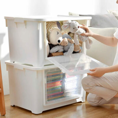 2-Way Opening Storage Box (With Wheels) Top Front Container Holder Style Degree Sg Singapore