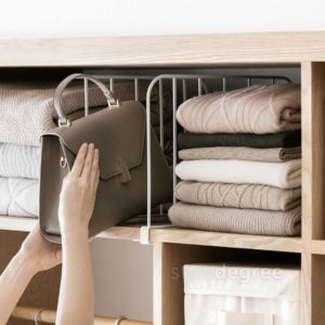 Wardrobe & Shelf Divider Bookshelf Shelves Closet Clothes Style Degree Sg Singapore