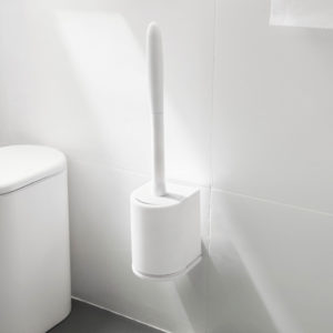 Minimalist Toilet Bowl Scrub (With Wall Holder) Bathroom Cleaning Accessories Sponge Scrubber Style Degree Sg Singapore