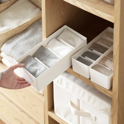 Rectangle Closet & Desk Organizer Box Wardrobe Storage Undergarment Underwear Ties Accessories Holder Style Degree Sg Singapore