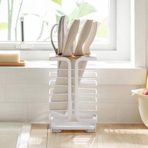 Scandinavian Retro Knife Holder Rack Organizer Kitchen Basin Dry Style Degree Sg Singapore