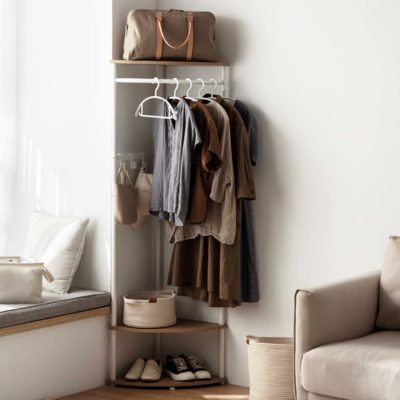The Scandinavian Corner Open Wardrobe Closet Open Concept Walk In Clothes Hanger Organization Style Degree Sg Singapore
