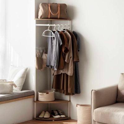 The Scandinavian Corner Open Wardrobe Closet Open Concept Walk In Clothes Hanger Organization Style Degree Sg Singapore
