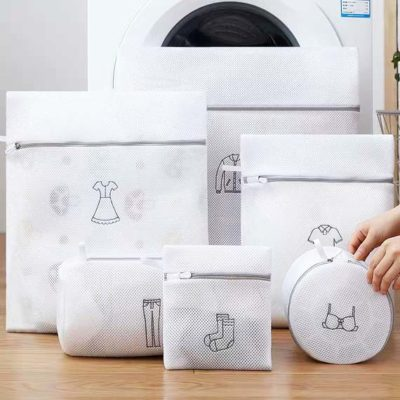 Laundry Mesh Bag With Label (6pc Set) Washing Machine Pouch Bags Style Degree Sg Singapore