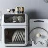 Capsule 2-Tier Dish Drainer Storage Rack Dinnerware Plates Bowls Utensils Chopping Board Lid Organizer Kitchen Style Degree Sg Singapore