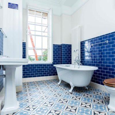 Blue Bathroom Tiling, Subway Tiling, Style Degree, Singapore, SG, StyleMag