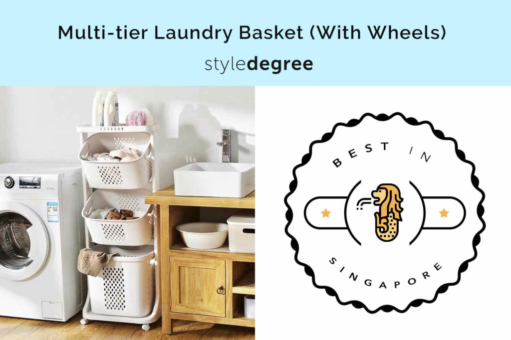 laundry basket in singapore, best laundry basket in singapore, laundry basket with wheels, mutli tier laundry basket with wheels, sg, singapore, style degree