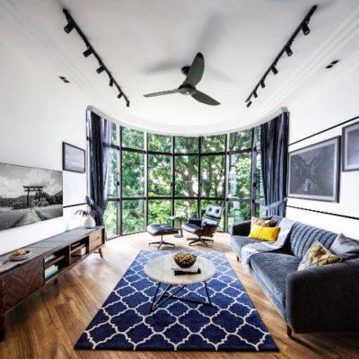 Blue Carpet, Living Room, Style Degree, Singapore, SG, StyleMag