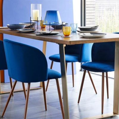 Blue Dining Chairs, Blue Dining Area, Style Degree, Singapore, SG, StyleMag