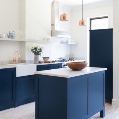 Blue Kitchen Island, Blue Kitchen Ideas, Style Degree, Singapore, SG, StyleMag
