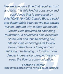 Pantone, Colour Of The Year, Classic Blue, Style Degree, Singapore, SG, StyleMag