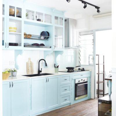 Pastel Blue Kitchen, Blue Kitchen Ideas, Style Degree, Singapore, SG, StyleMag