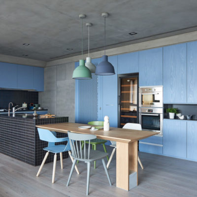 Blue Dining Area, Blue Lamp, Style Degree, Singapore, SG, StyleMag