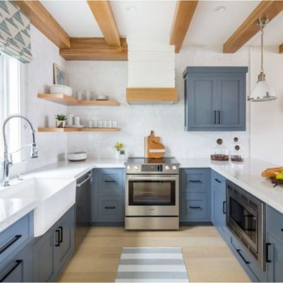 Blue Kitchen Cabinets, Slate Blue, Beach Themed Kitchen, Style Degree, Singapore, SG, StyleMag
