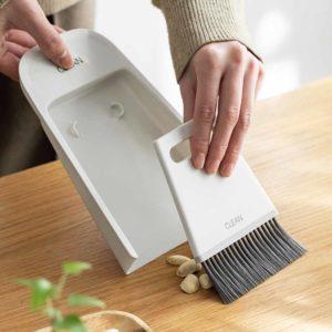 Deskly Mini Desk Broom & Wiper Set Keyboard Dustpan Countertop Cleaning Cleaner Style Degree Sg Singapore