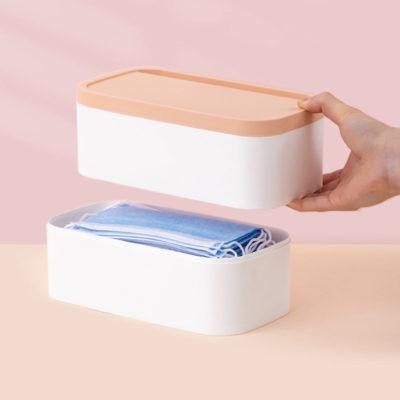 Hygienic Face Mask Storage Organizer Box Desk Surgical Masks Holder Pouch Style Degree Sg Singapore