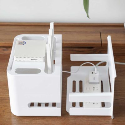 Capsule Wifi Router & Cable Management Organizer Storage Box Style Degree Sg Singapore