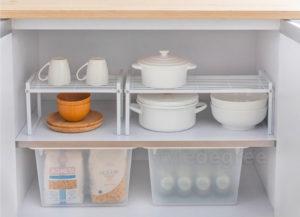 Grande Stackable Kitchen Rack Organizer Cabinet Shelf Shelf Pantry Organization Style Degree Sg Singapore